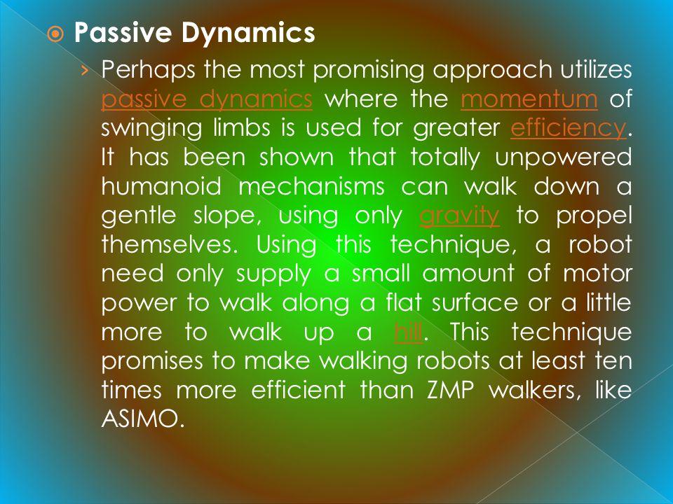 Passive Dynamics