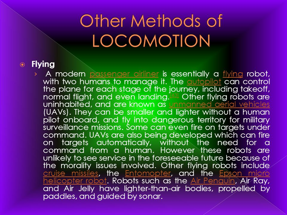 Other Methods of LOCOMOTION