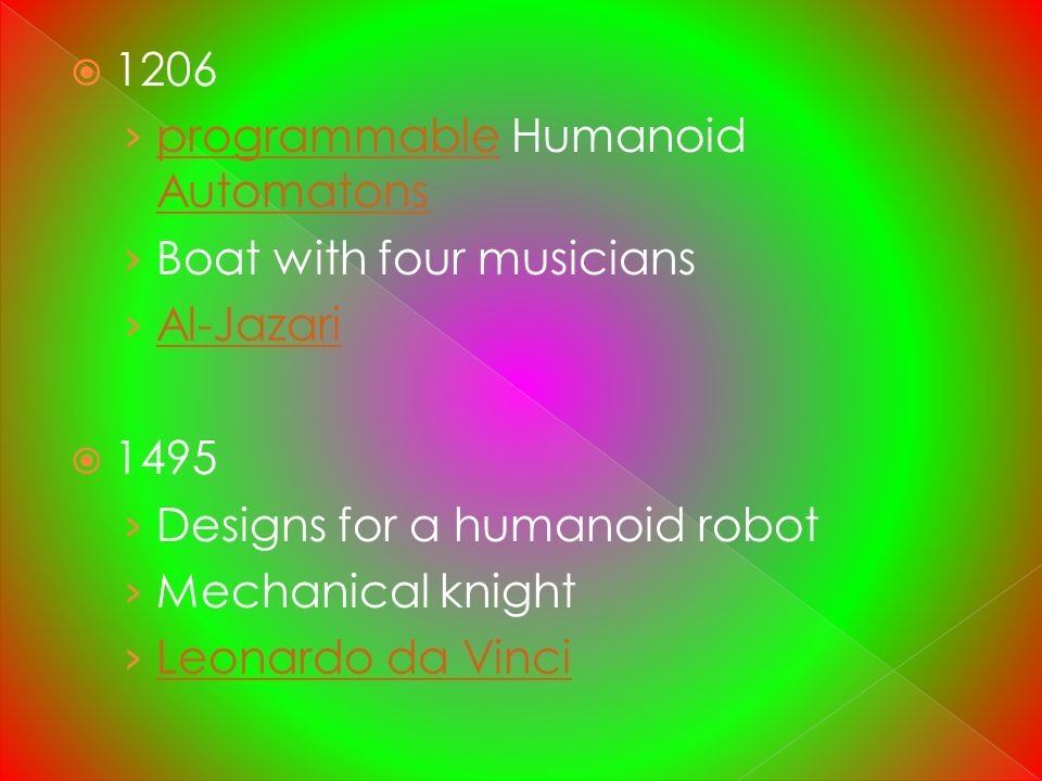 1206 programmable Humanoid Automatons. Boat with four musicians. Al-Jazari Designs for a humanoid robot.
