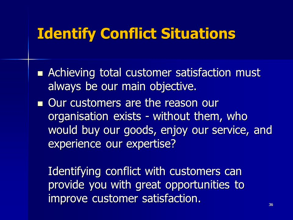 Identify Conflict Situations