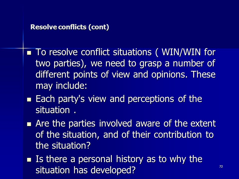 Resolve conflicts (cont)