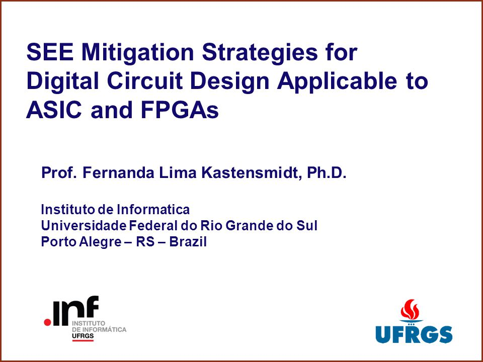 SEE Mitigation Strategies for Digital Circuit Design Applicable to ASIC and FPGAs