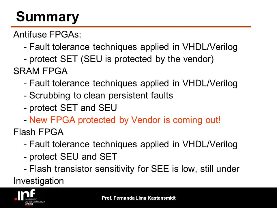 Summary Antifuse FPGAs: