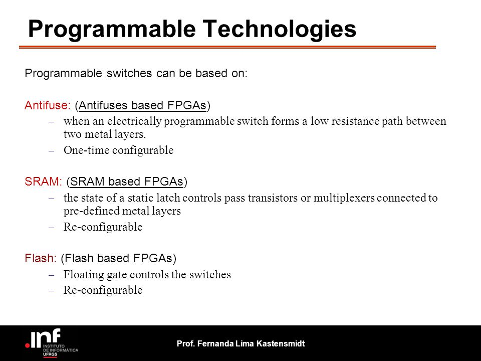 Programmable Technologies