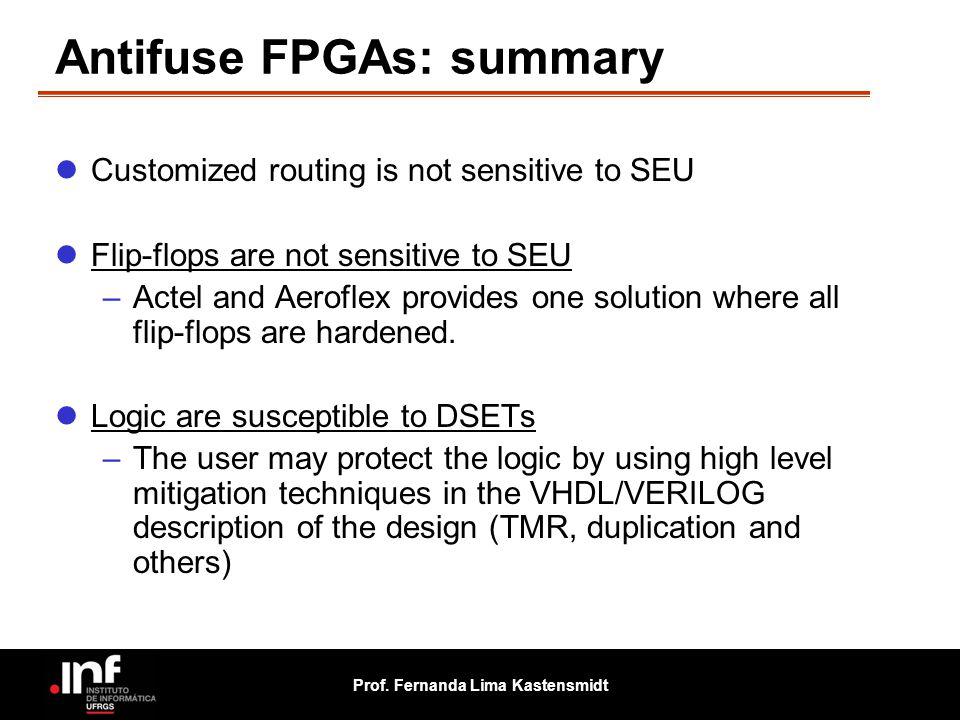 Antifuse FPGAs: summary