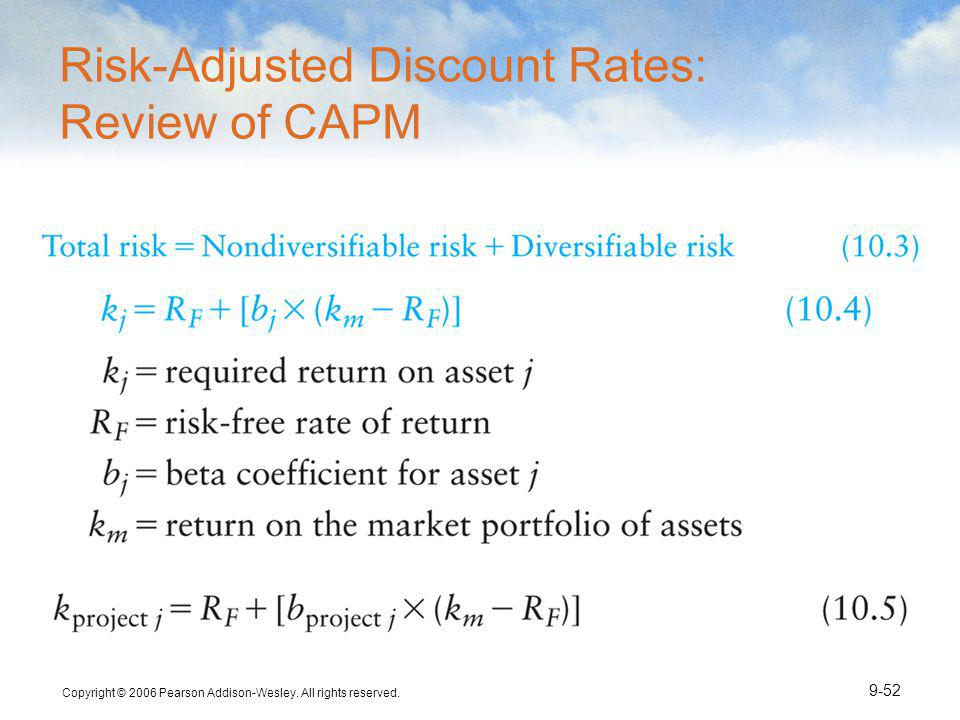 Risk-Adjusted Discount Rates: Review of CAPM