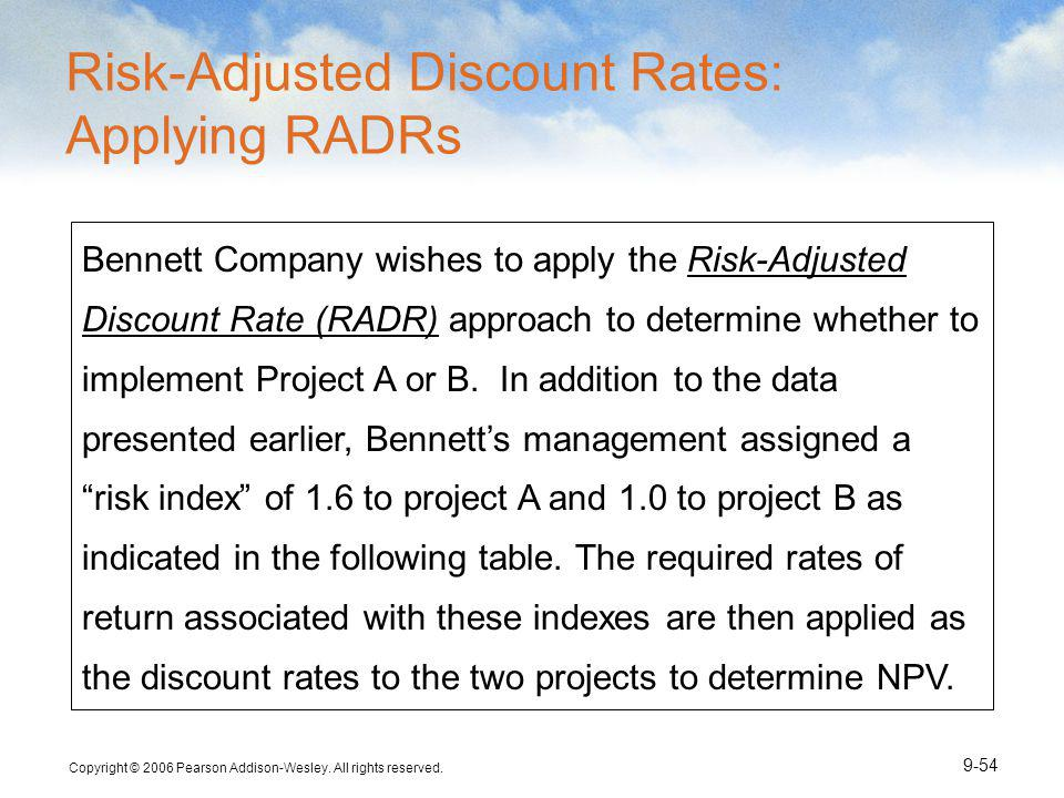 Risk-Adjusted Discount Rates: Applying RADRs