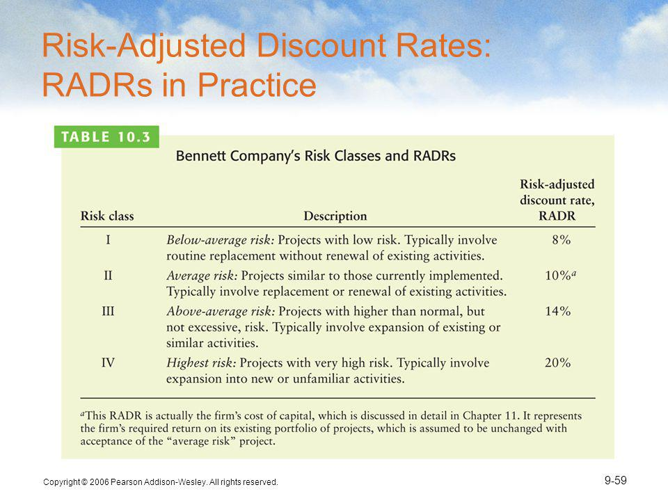 Risk-Adjusted Discount Rates: RADRs in Practice