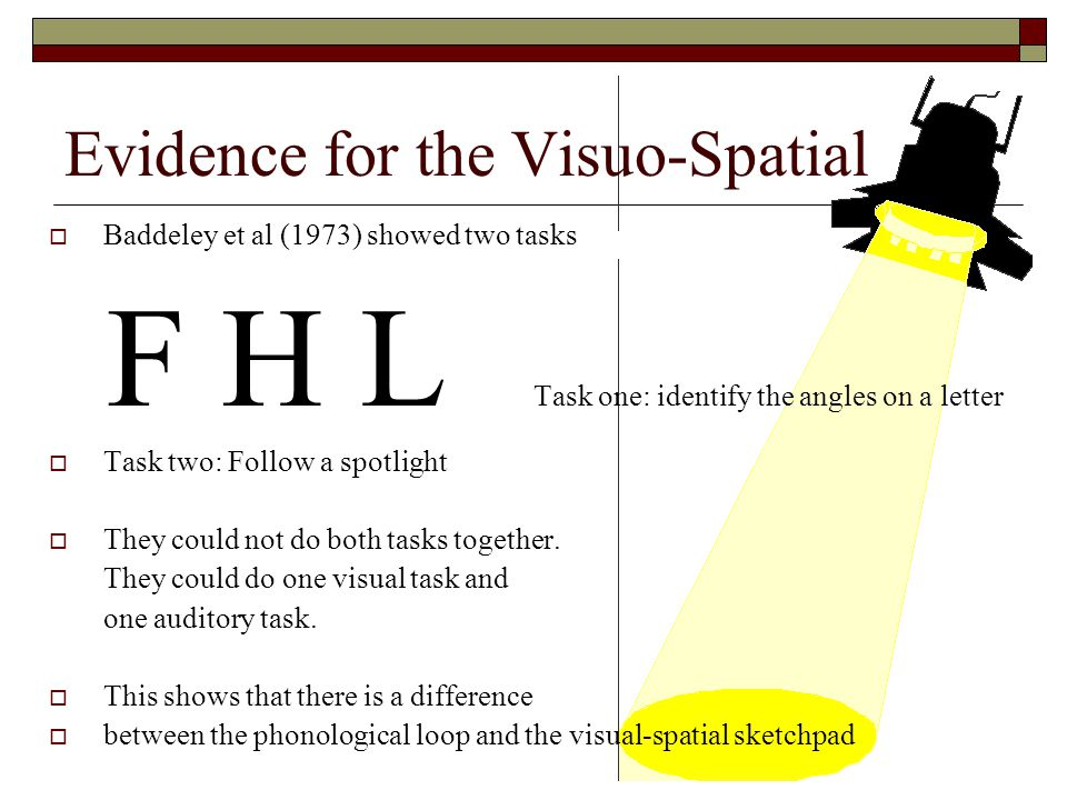 Evidence for the Visuo-Spatial
