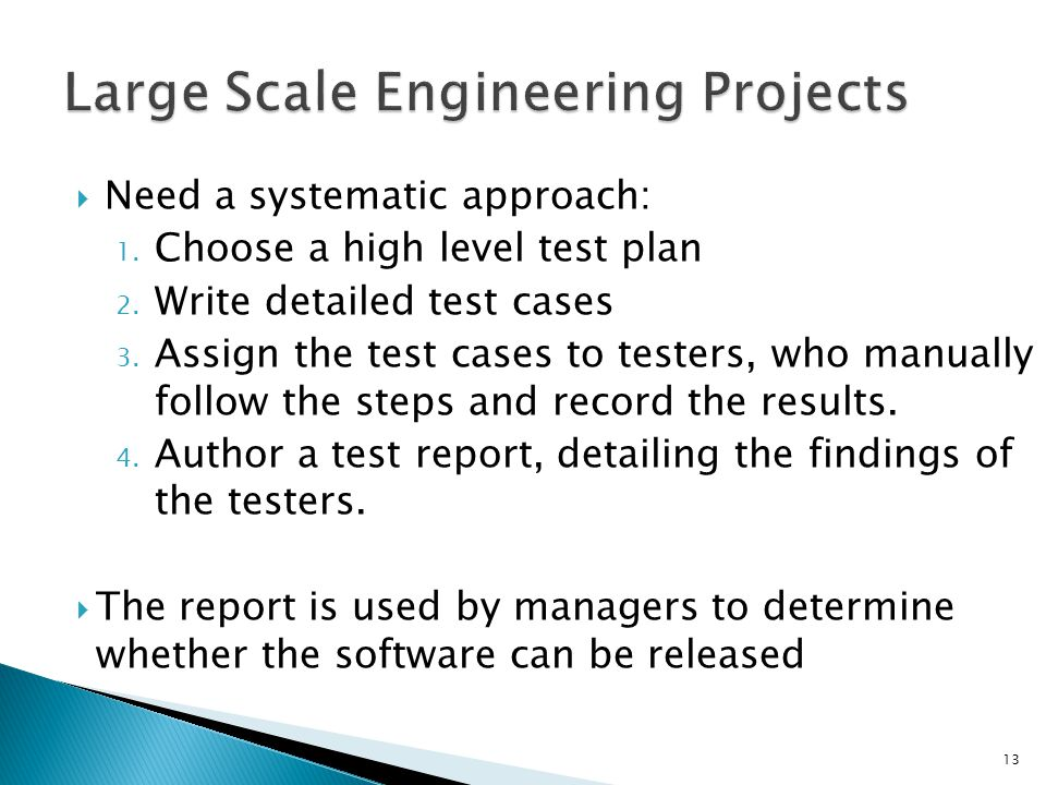 Large Scale Engineering Projects