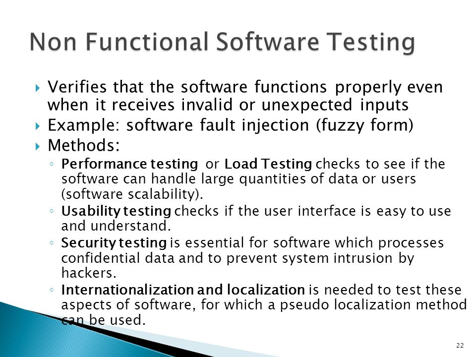 Non Functional Software Testing