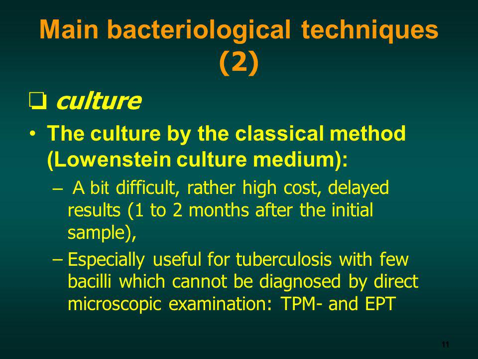 Main bacteriological techniques (2)