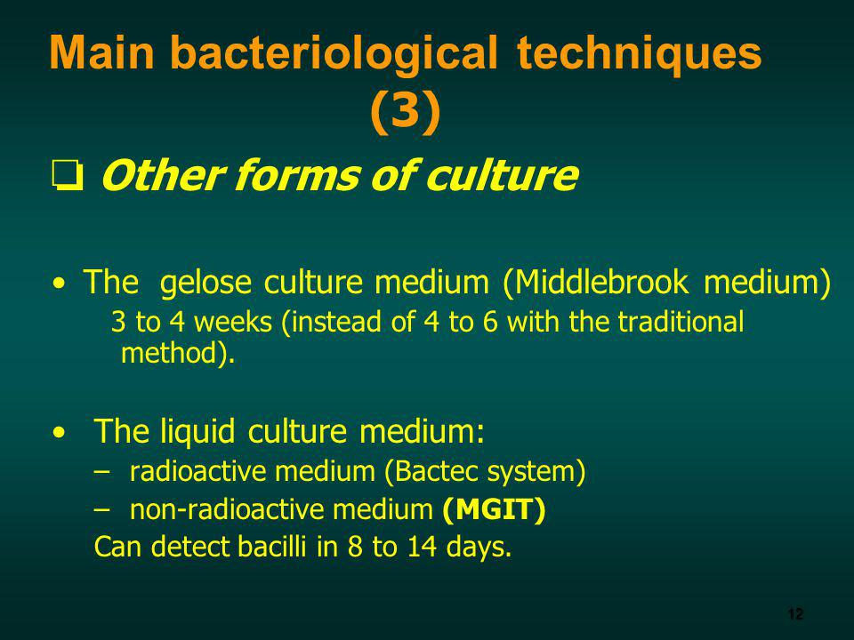 Main bacteriological techniques (3)