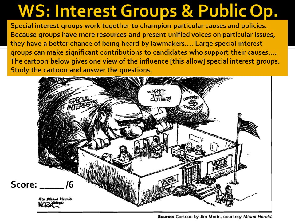 WS: Interest Groups & Public Op.