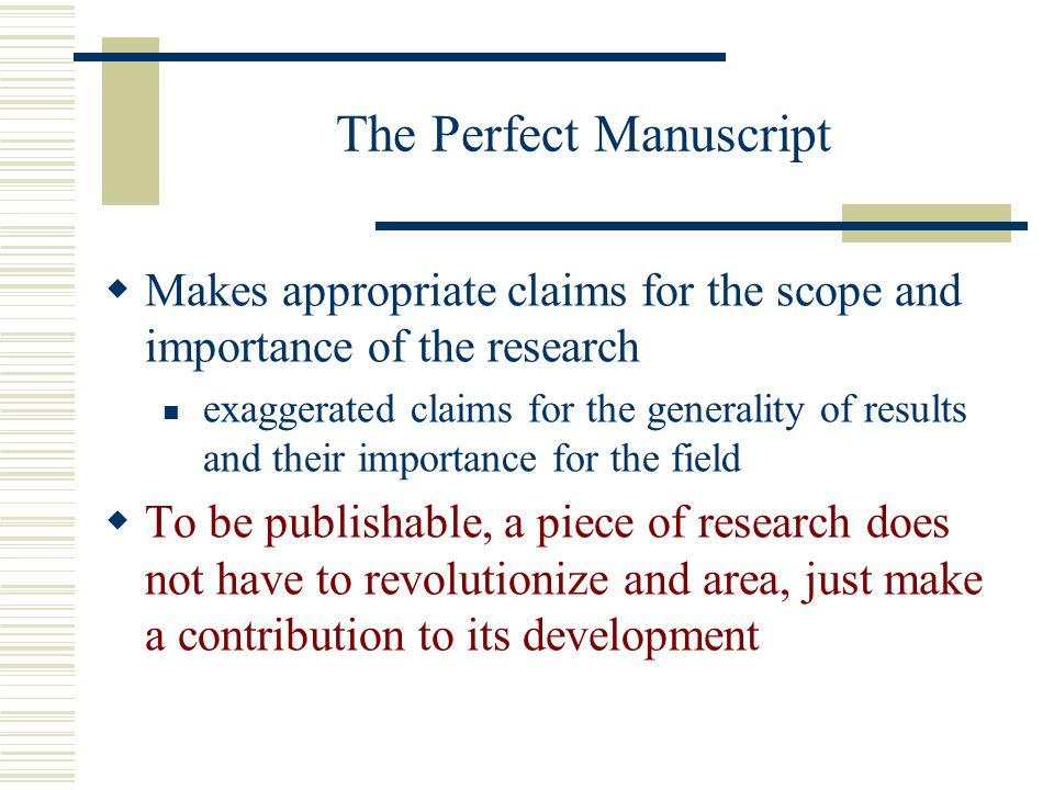 The Perfect Manuscript