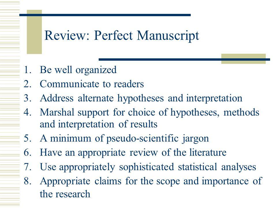 Review: Perfect Manuscript