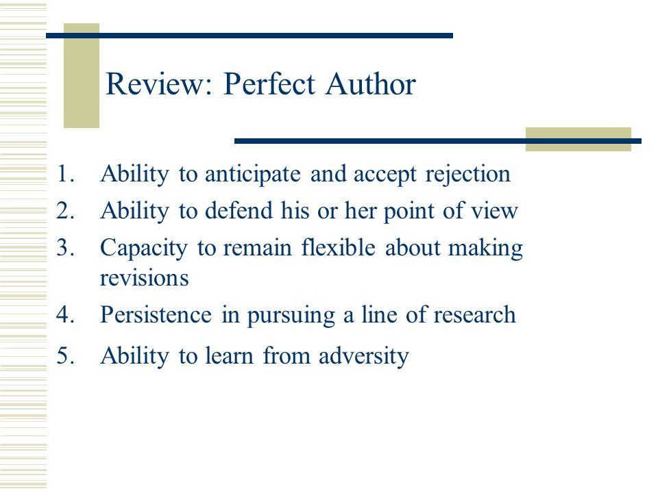Review: Perfect Author