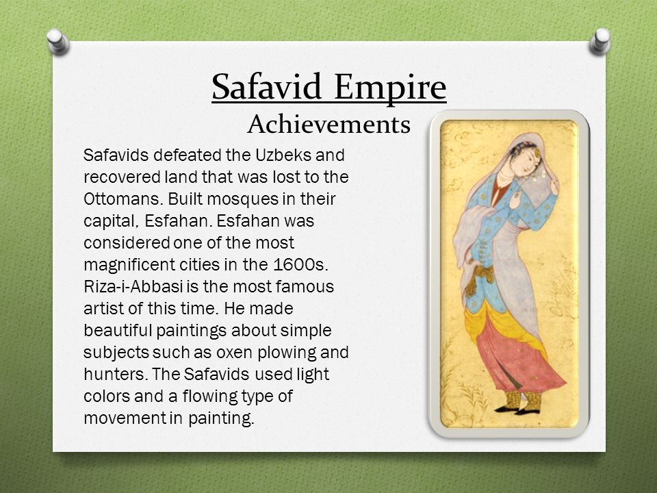Safavid Empire Achievements