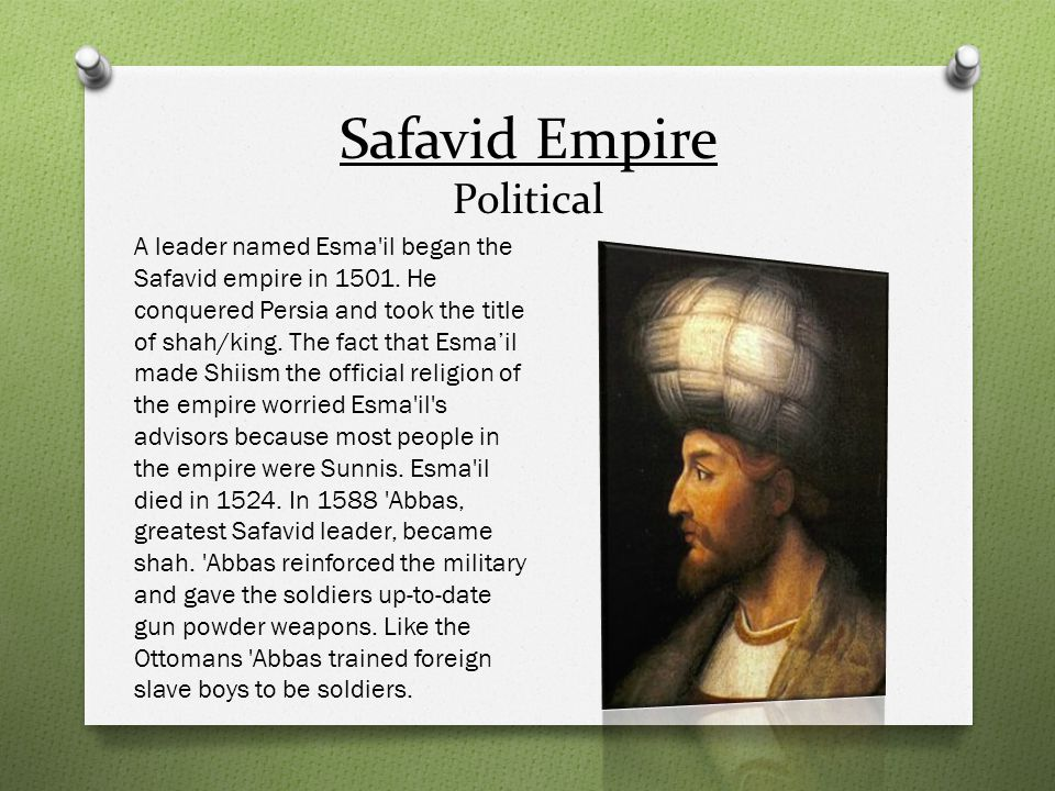 Safavid Empire Political