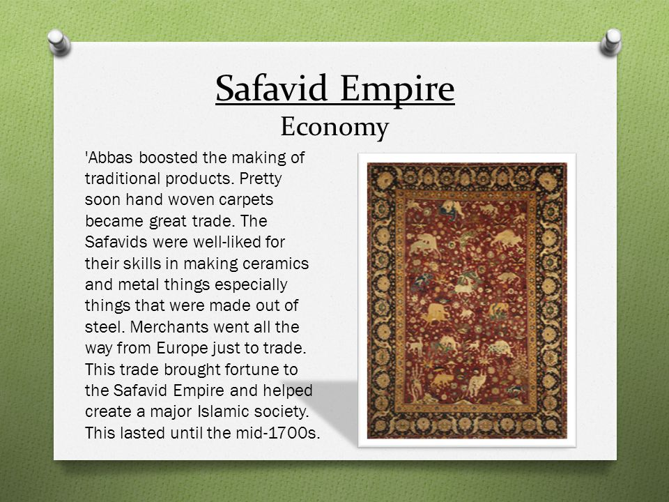 Safavid Empire Economy