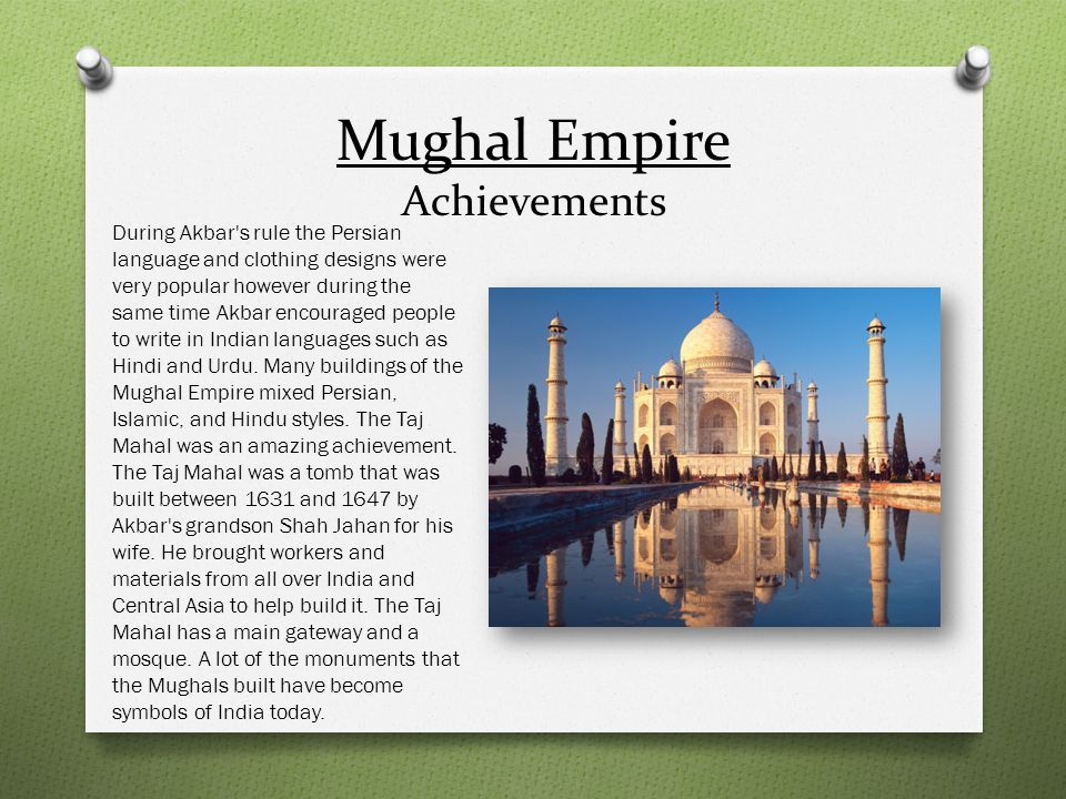 Mughal Empire Achievements