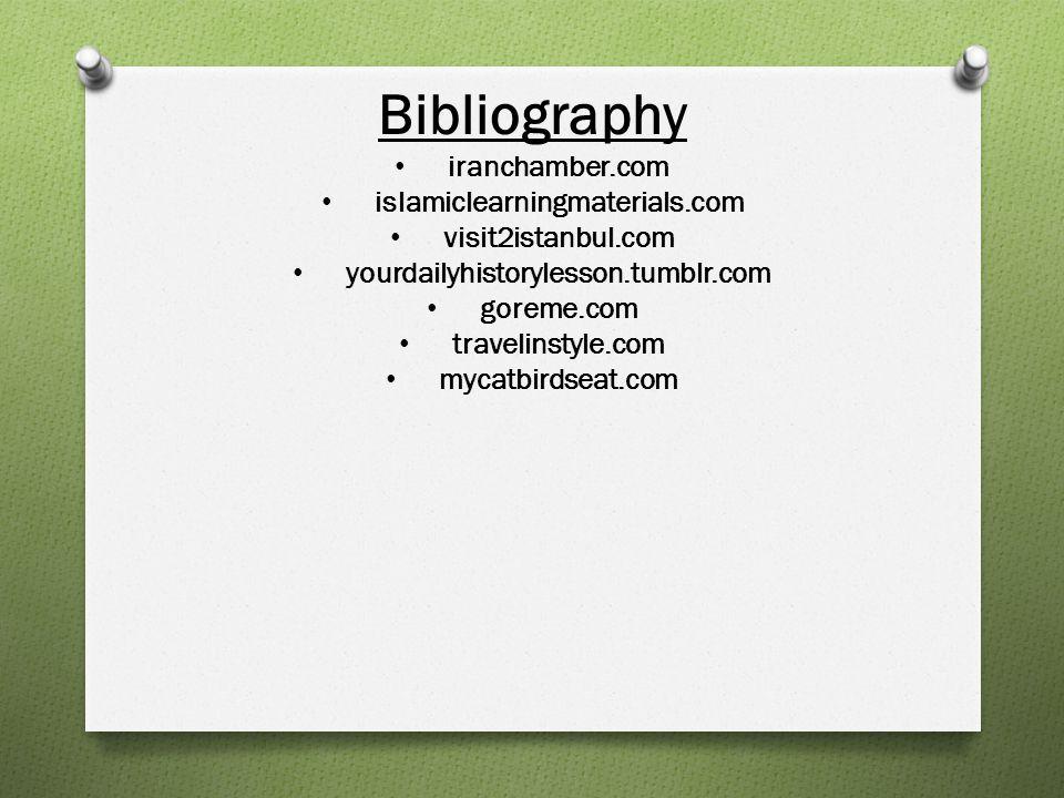 Bibliography iranchamber.com islamiclearningmaterials.com