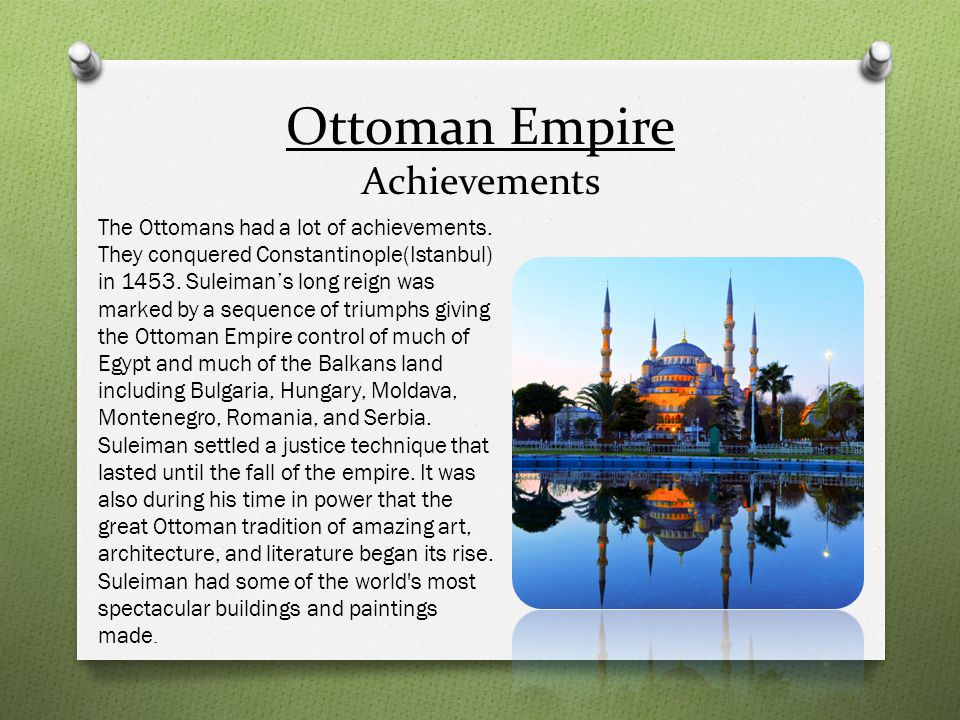 Ottoman Empire Achievements