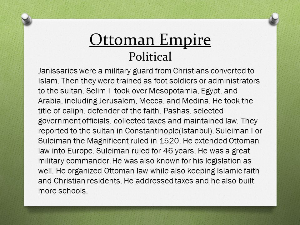 Ottoman Empire Political