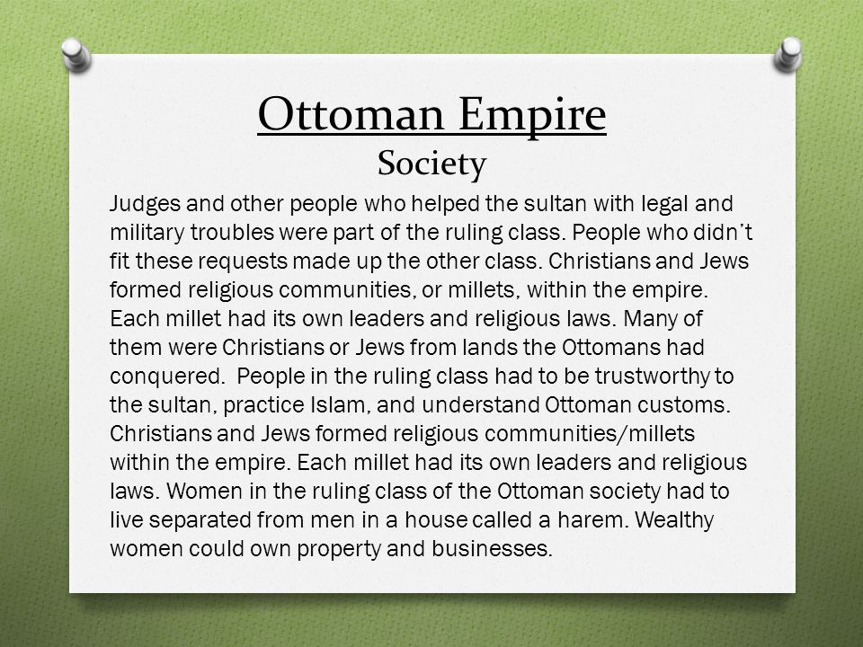 Ottoman Empire Society