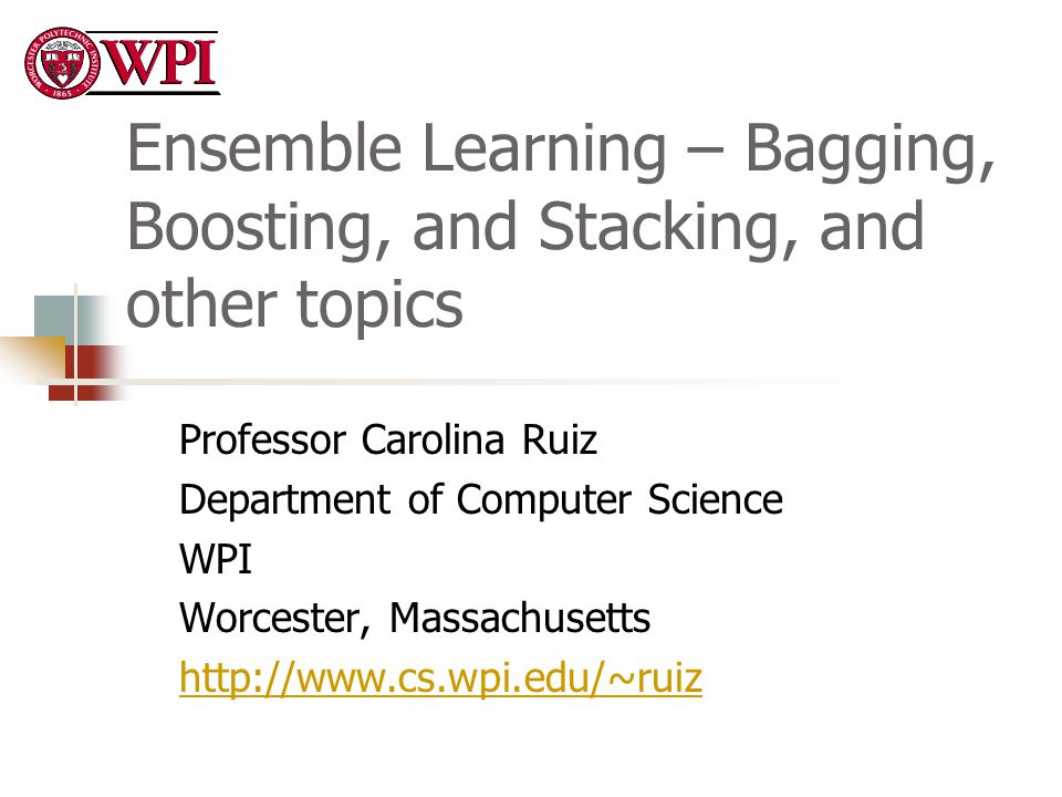 Ensemble Learning – Bagging, Boosting, and Stacking, and other topics