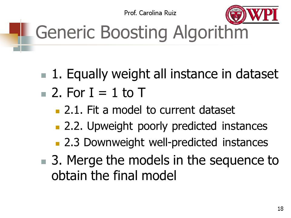 Generic Boosting Algorithm