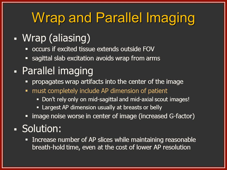 Wrap and Parallel Imaging