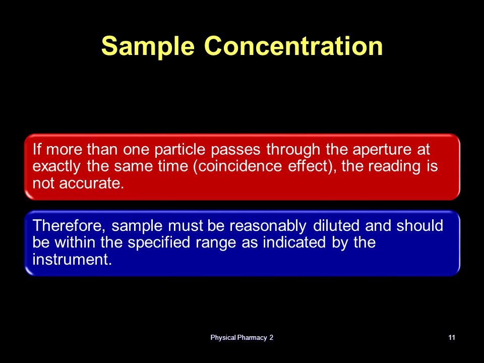 Physical Pharmacy 2 Sample Concentration.