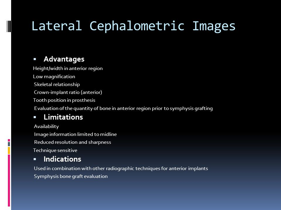 Lateral Cephalometric Images