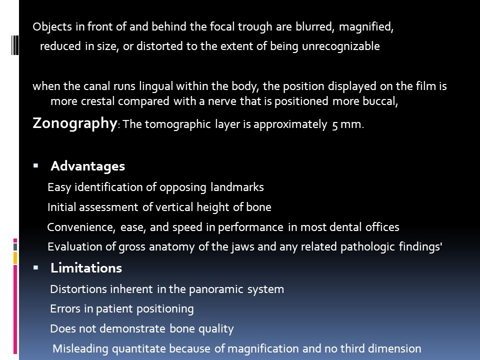 Zonography: The tomographic layer is approximately 5 mm.