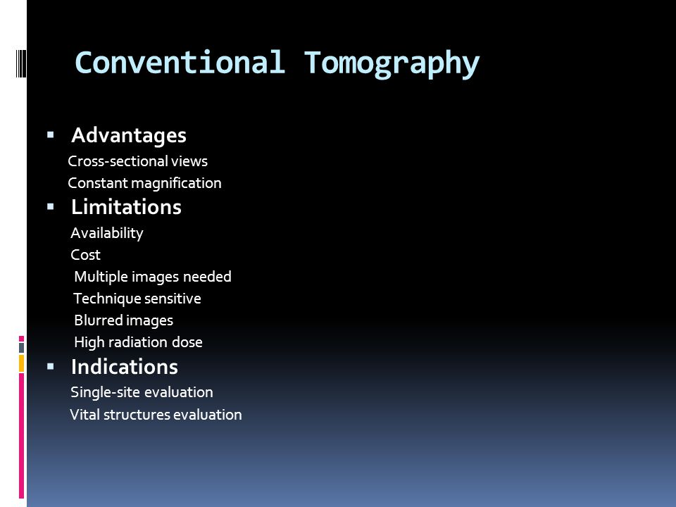 Conventional Tomography