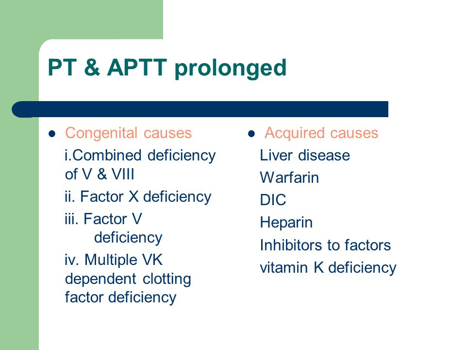 PT & APTT prolonged Congenital causes