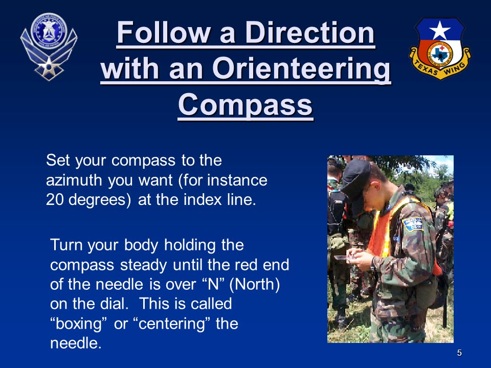 Follow a Direction with an Orienteering Compass