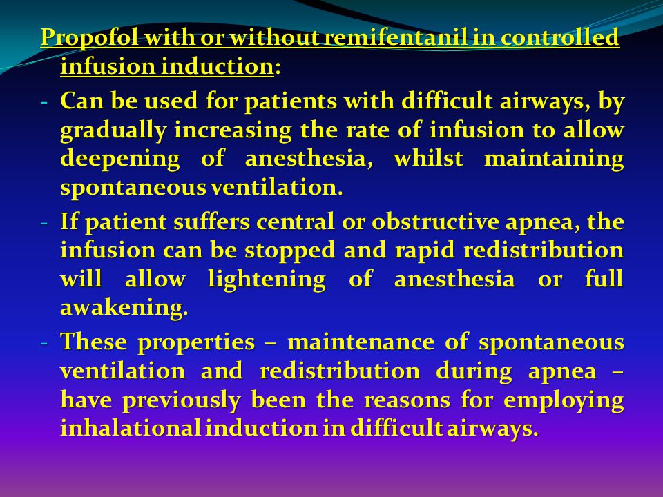 Propofol with or without remifentanil in controlled infusion induction: