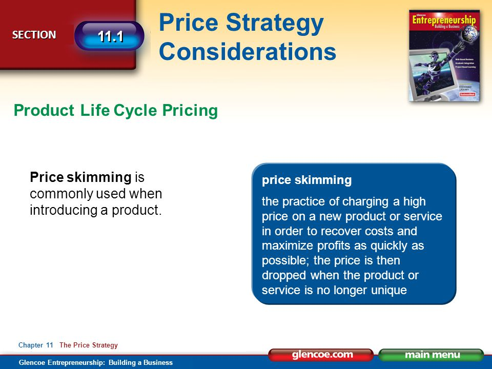 Product Life Cycle Pricing