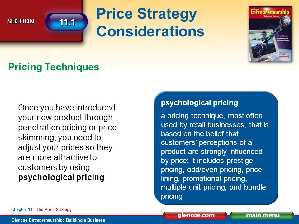 Pricing Techniques psychological pricing.