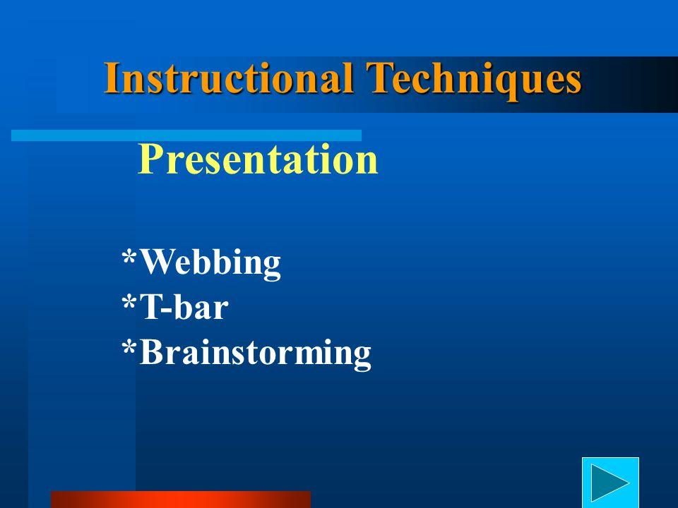 Instructional Techniques