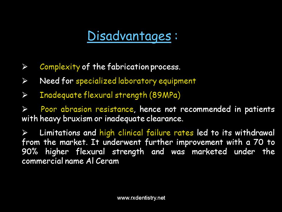 Disadvantages : Complexity of the fabrication process.