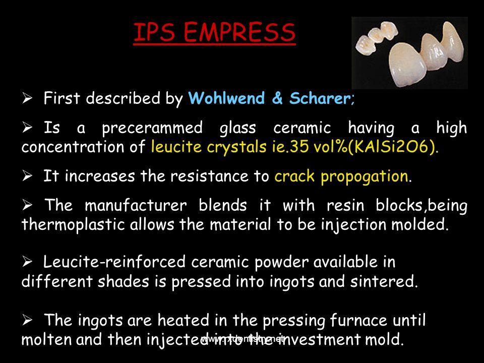 IPS EMPRESS First described by Wohlwend & Scharer;
