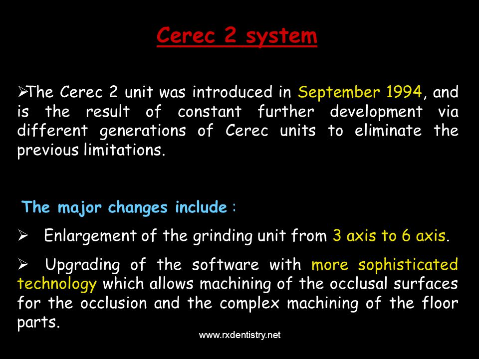 Cerec 2 system