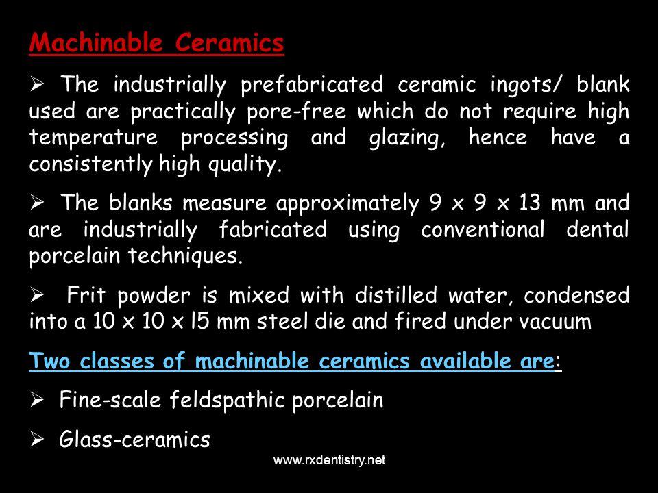 Machinable Ceramics