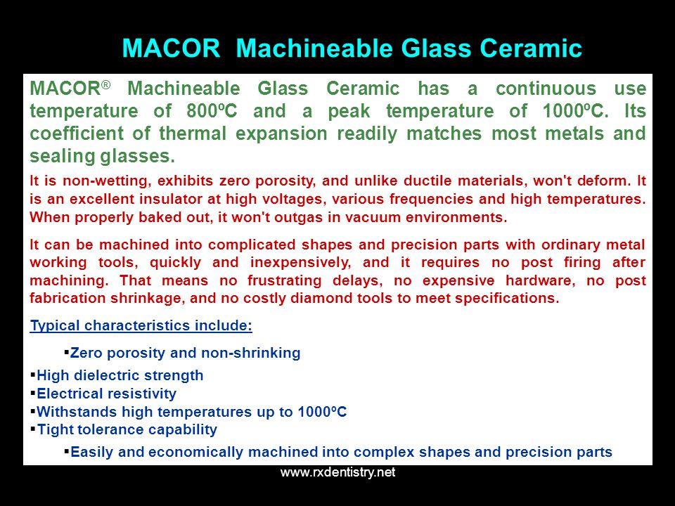 MACOR Machineable Glass Ceramic