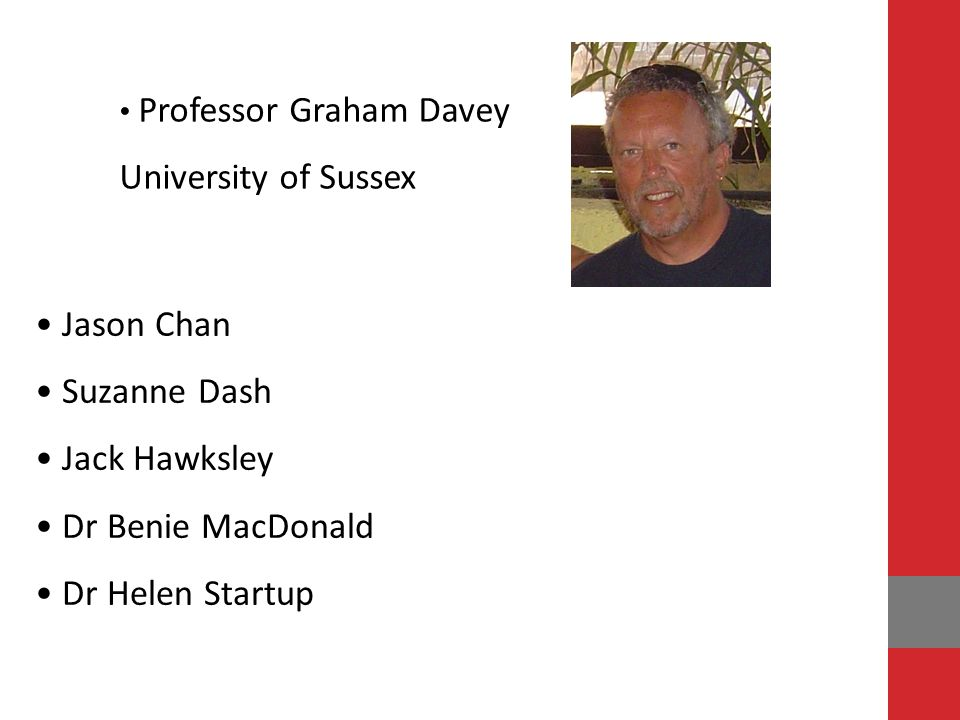 University of Sussex Jason Chan Suzanne Dash Jack Hawksley