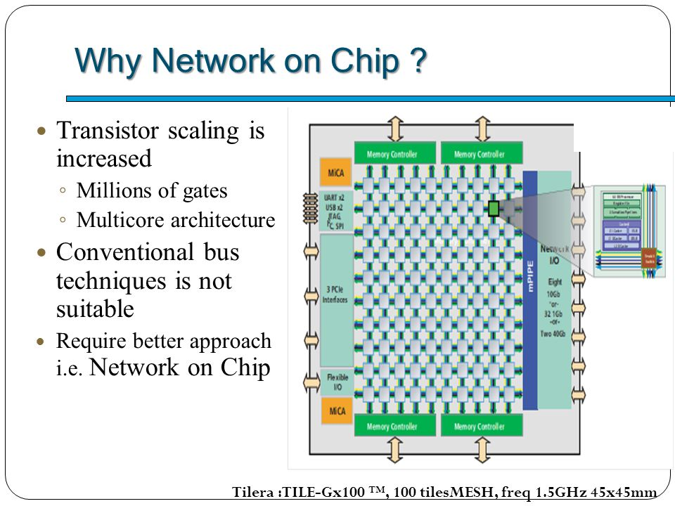 Why Network on Chip Transistor scaling is increased