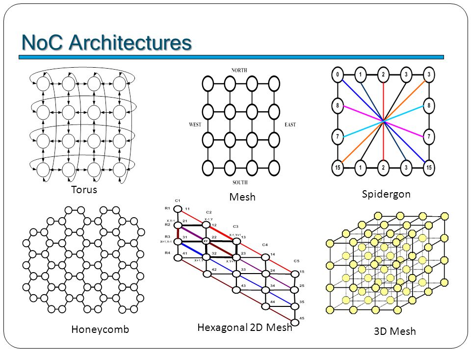 NoC Architectures ■ Variants of NoC architecture